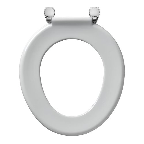 ARMITAGE SHANKS Genuine S406001 Bakasan toilet seat and cover with stainless steel rod and chrome plated pillar hinges