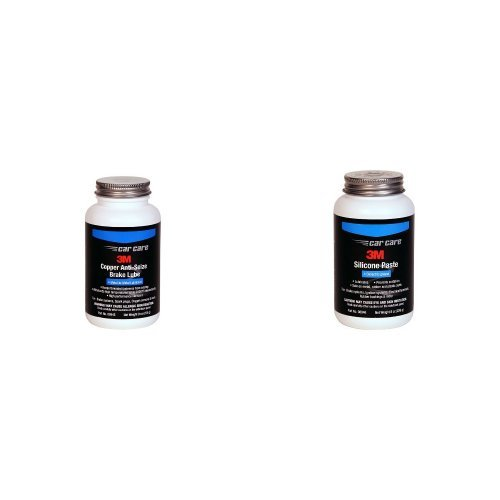 3M 08945 Copper Anti Seize Brake Lube - 9 fl. oz. & 3M 08946 Clear Silicone Paste - 8 oz.