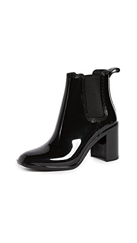 Hurricane Rain Boot - Jeffrey Campbell Women's Hurricane Rain Booties, Black, 8 M US