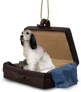 Amazon Com Blue Belton English Setter Traveling Companion Dog Ornament Kitchen Dining