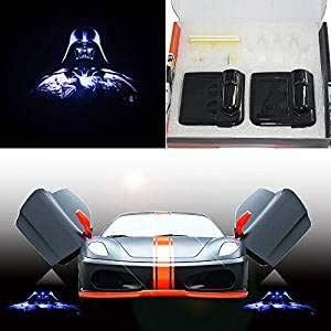 Lámpara de proyector láser para puerta de coche, magnética, 3D ...