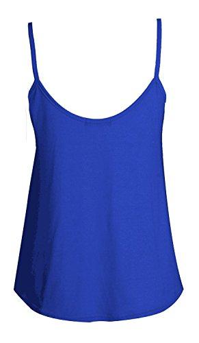 Senza maniche da donna, in Jersey di viscosa-Swing Top-Canottiera blu 44