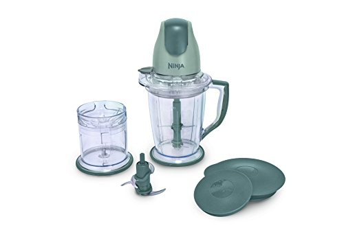 Ninja 400-Watt Blender Food Processor for Frozen Blending, Chopping and Food Prep with 48-Ounce Pitcher and 16-Ounce Chopper Bowl QB900B , Silver