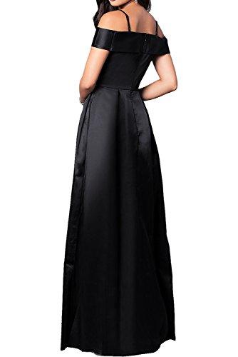Abendkleider Elegant Satin Schwarz Ballkleider Royalblau Promkleider Lang 2017 Ivydressing Neu SqCwxxB