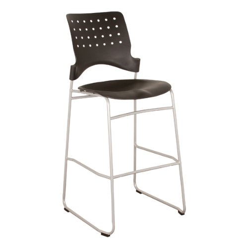 Learniture Ballard Plastic Café Stool, NOR-T3000-SO (Pack of 2)