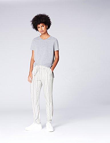 Pantaloni Bianco Righe FIND Stripe Jogger a Donna nXqdfqx