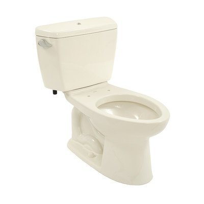 Drake 1.6 GPF Elongated 2 Piece Toilet with Bolt Down Lid with E-Max Flush and Insulated Tank Toilet Finish: Sedona Beige