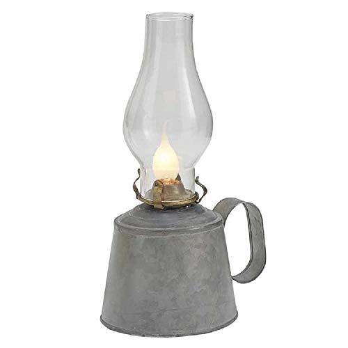 - Park Designs Small Galvanized Oil Lamp with Globe