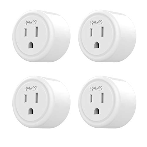 (Smart Plug Gosund WiFi Mini Socket Smart Outlet, Work with Alexa and Google Home, No Hub Required, Remote Control your Devices, ETL and FCC Listed 4 Pack)