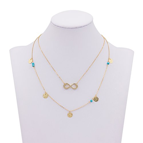 Boosic Necklace Turquoise Triangle Infinity