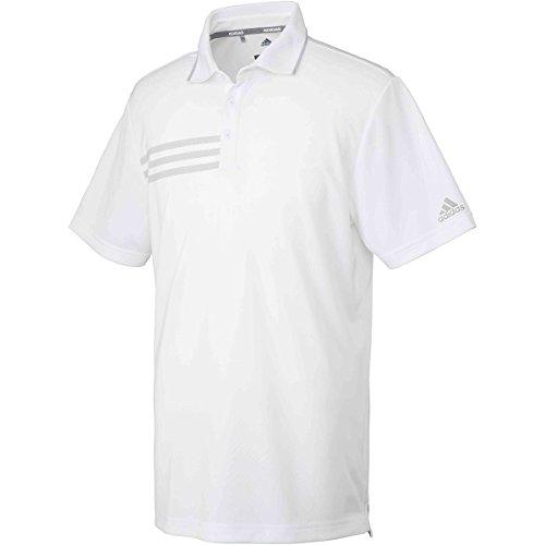 アディダス Adidas 半袖シャツ?ポロシャツ CP 3ストライプ 半袖メッシュポロシャツ ホワイト S