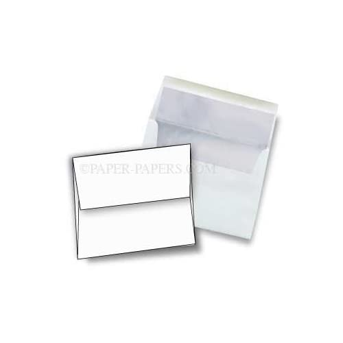 A8 FOIL LINED Envelopes - Ultra White 32T Envelopes with Silver Foil Lining - 50 PK for cheap