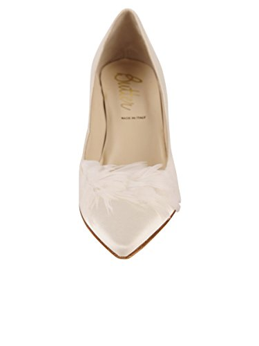 Zapatos De Mantequilla Para Mujer Bomba Carmesí Marfil