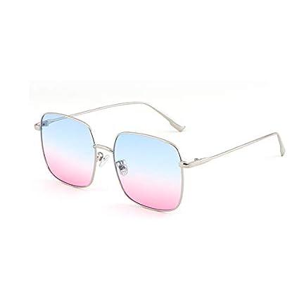 Sunglasses- Gafas de Sol Marea Femenina Red de Estrellas Coreanas Gafas de Sol polarizadas Rojas