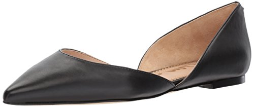 Sam Edelman Women's Rodney Ballet Flat, Black Leather, 8.5 M -