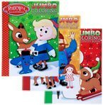 Rudolph the Red-Nosed Reindeer Jumbo Coloring and Activity Book Bendon