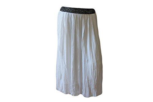 ffa390378e0c ENFANTVIP -Jupe longue plissée blanche - Fille - Enfant (12 ANS ...