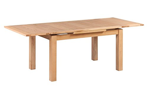 (Trithi Furniture Portland American Solid Oak Rectangle Extendable Table 2200 | Golden Oak)