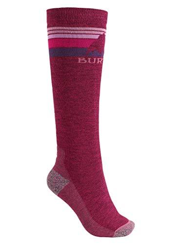 Burton Women's Emblem Midweight Sock, Sangria, Medium/Large