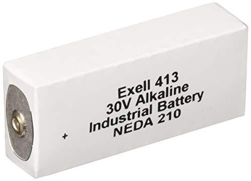 Exell Battery 413A Alkaline 30V Battery NEDA 210, 20F20, BLR123 ER413, White/Silver by Exell Battery