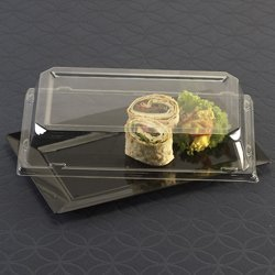 EMI Yoshi EMI-RP9LP Rectangle Lunch Plate Dome Lid - Clear