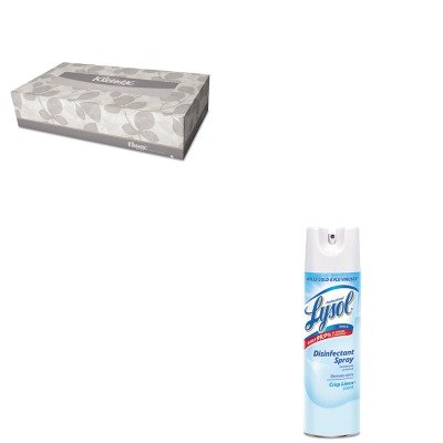 KITKIM21400BXRAC74828CT - Value Kit - Professional LYSOL Brand Disinfectant Spray (RAC74828CT) and KIMBERLY CLARK KLEENEX White Facial Tissue (KIM21400BX)