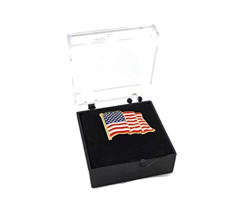 Mandujour Authentic American Flag Pin Unisex Lapel Made for Patriotic Men and Women Proudly Designed in USA with a Free Beautiful Luxurious Gift Box (1)