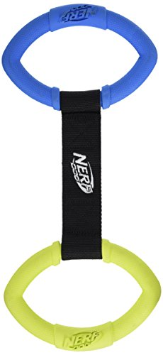 Nerf Products 1539 2-Ring Strap Tug, Medium, Green/Blue