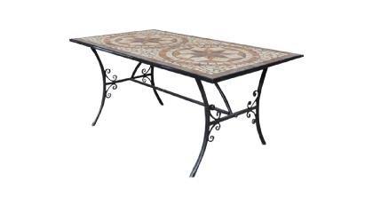 Tavolo Da Giardino In Ferro E Mosaico.Axel Group Tavoli In Ferro Battuto Con Mosaico In Pietra