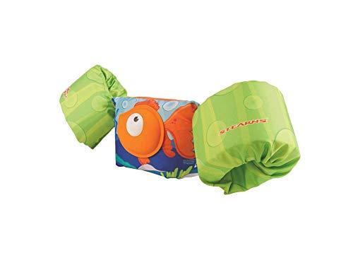 hyellos Stearns Puddle Jumper Deluxe 3D Orange Fish Child Life Jacket | Life Vest for Children ()