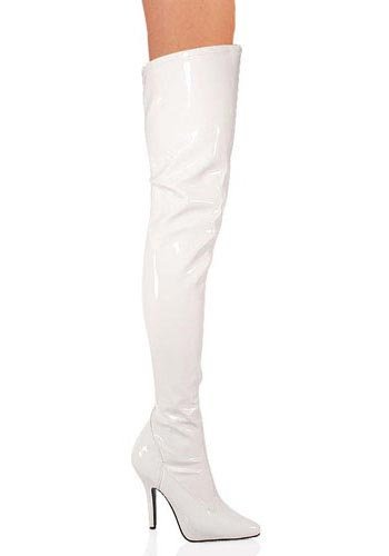 Pleaser Women's Seduce-3000/W High Boot,White Patent,11 M US by Pleaser