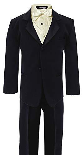 (Little Boy's Formal Dresswear Set G260 (3T, Black/Ivory))