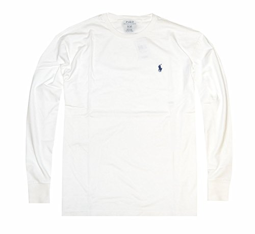 a1bd71e83965a Polo Ralph Lauren Men s Long Sleeve Pony Logo T-Shirt - Small - White at  Amazon Men s Clothing store