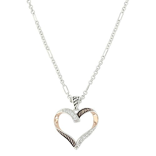 Montana Silversmiths Facets of Love Rose Gold Heart Necklace - Silversmiths Montana Heart