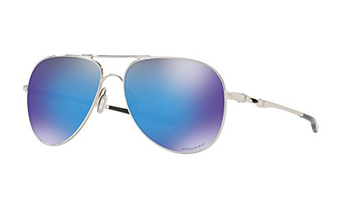 Oakley Elmont Large Aviator Sunglasses Polished Chrome w/ Prizm Sapphire Lens + - Elmont Oakley Large