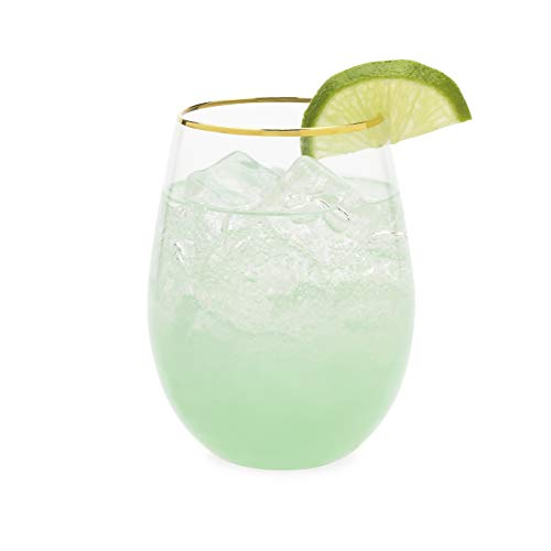 (Blush 5786 Green Stemless Wine And Cocktail Saguaro Glass (Set of 2),)
