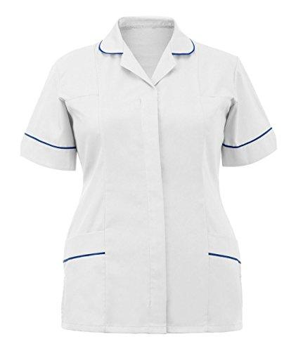 Bleu Manches Courtes Uni Blanc bleu T shirt Unique Taille 21fashion Marine Femme wIfRYnwx
