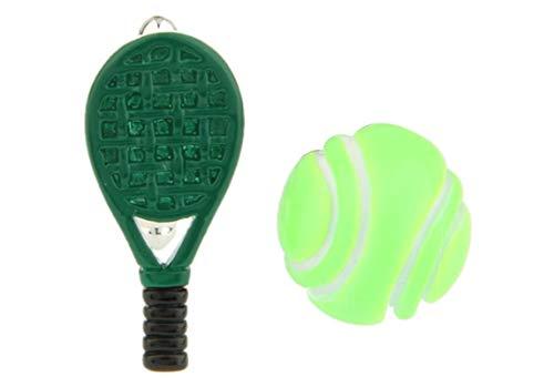 AmDxD Gemelos de Cobre para Hombres Verde Tennis y Raqueta de ...