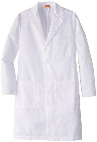 Lab Coat Barco - Labcoats by Barco Men's 37 Inch 6 Pocket Lab Loose Back Belt, White, 38