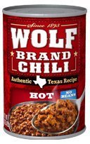 Wolf Brand Chili, Hot, No Beans 15 Oz (Pack of 4)