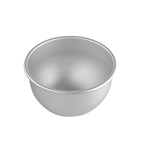Dealglad 6 Inch Aluminum Deep Semicircle Chiffon Cake Pan Bobbi Doll Princess Cake Mold Pudding Baking (Doll Mold)