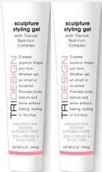 TriDesign Tri Sculpture Styling Gel with Topical Nutrition Complex, 6.0 Oz. / 199 g each (2 Ct.) by TRI