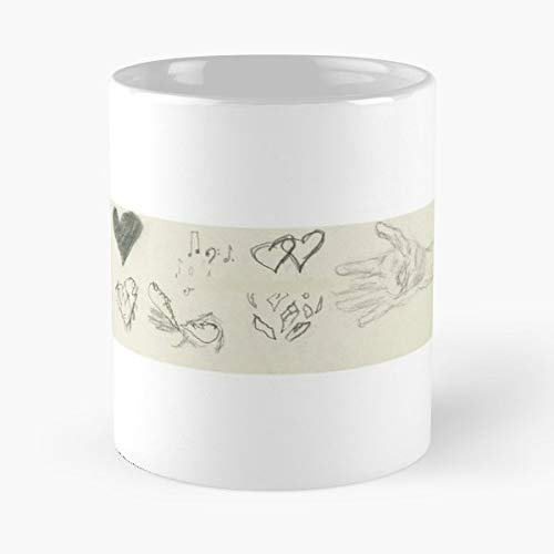 Heart Pencil Sketch Love - Unique Gift Ideas For Her From Daughter Or Son Fun Bday Present A Mother And Father Cool Novelty Cup 11 Oz.