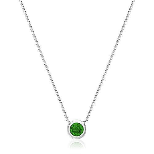 17 Jewel Gold - Jewels by Erika 10K Gold and Emerald Pendant - 17