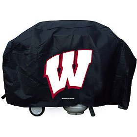 Black Ncaa Cover - NCAA Wisconsin Badgers Black Grill Cover