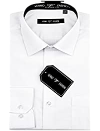 Verno Luxton Men's Fashion(Regular) Fit Long Sleeve Dress Shirt - Available in More Colors