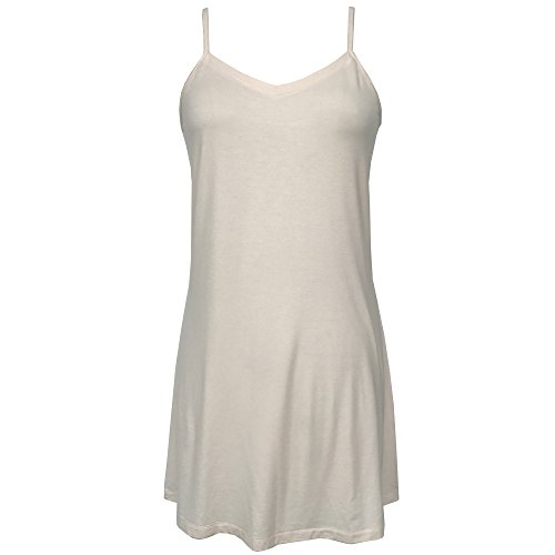 Bamboo Full Slip: Soft Slip 4 Women, Mid-Thigh Length, Adjustable Straps, Wear as a Nightgown Nude ,X-large