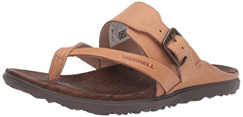 (Merrell Women's Around Town Luxe Buckle Thong Slipper, Natural TAN, 08.0 M US )