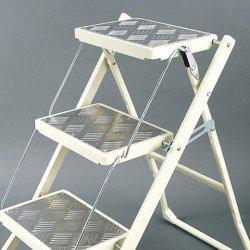 Folding 3-steps ladder (Ivory) / フォールディング 3ステップ 脚立(アイボリー) B00K85E2J2