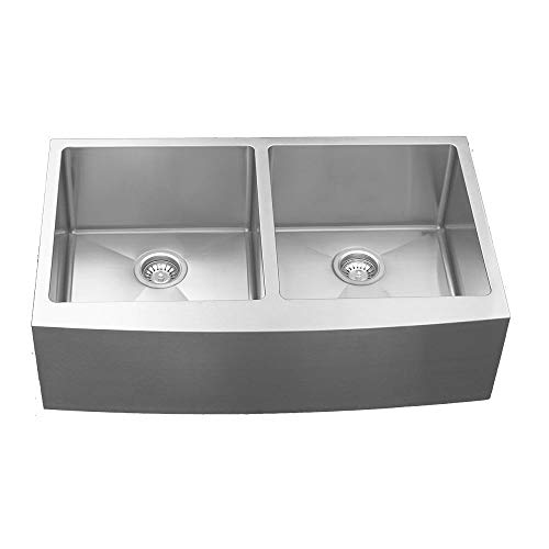 - Elite EL-88 Double Equal Undermount Bowl with Apron Sink